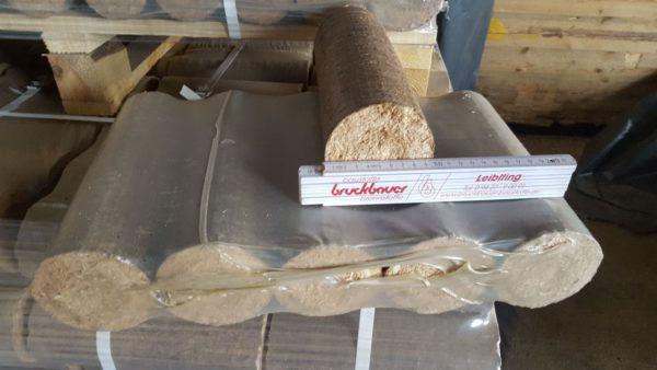 Holzbrikett Rund ohne Loch